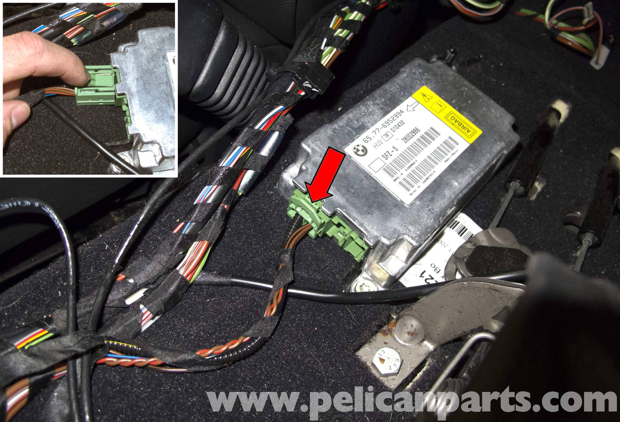 bmw e38 wiring diagram mitsubishi eclipse stereo e60 5-series airbag module, blue tooth antenna and idrive controller replacement - pelican ...