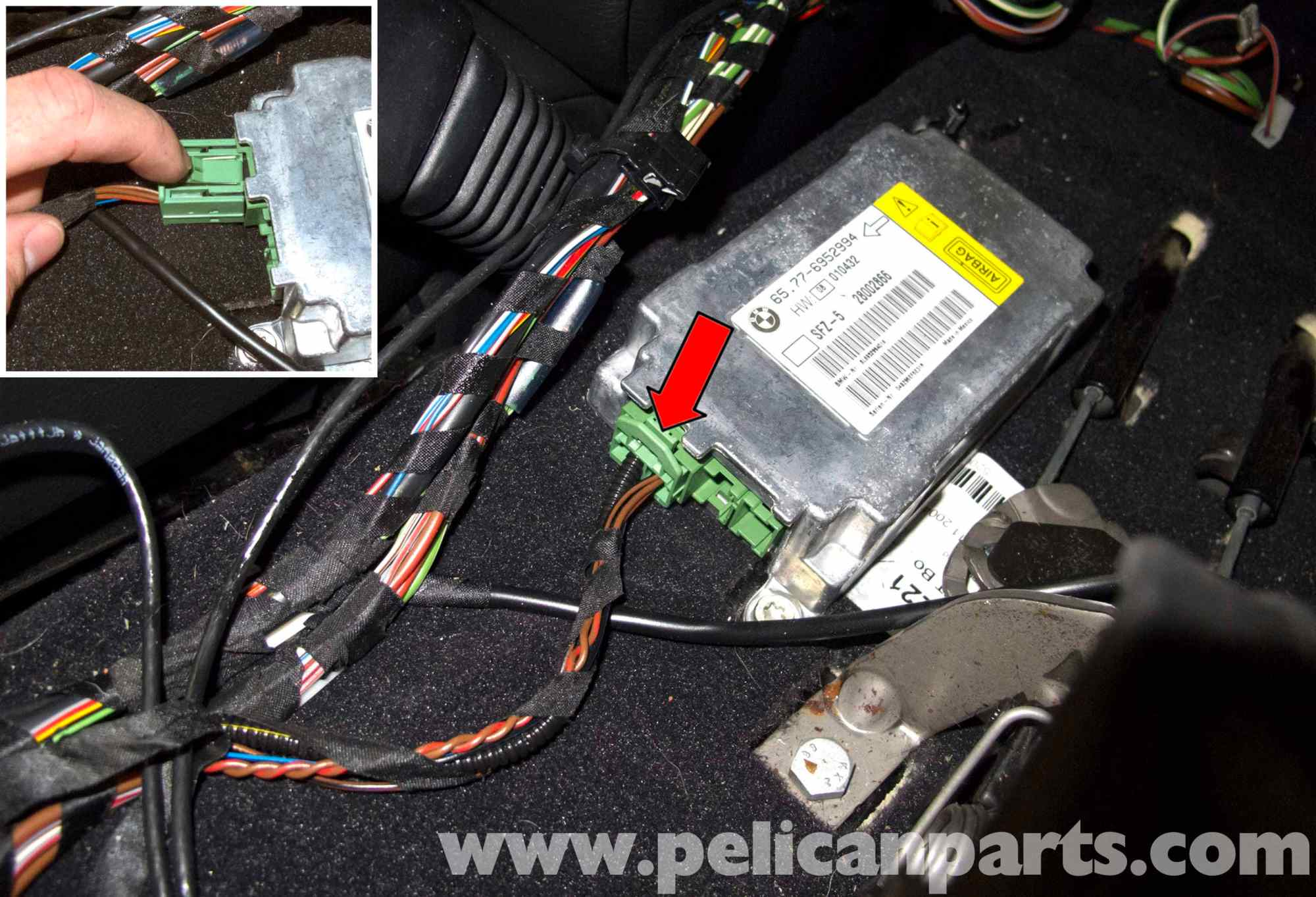 hight resolution of bmw e60 5 series airbag module blue tooth antenna and can wiring diagram