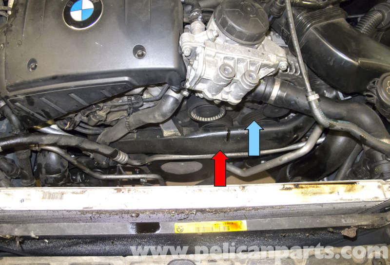 serpentine belt installation diagram kicker l7 12 wiring bmw e60 5-series drive belt, tensioner, idler replacement (n54 engine) - pelican parts technical ...
