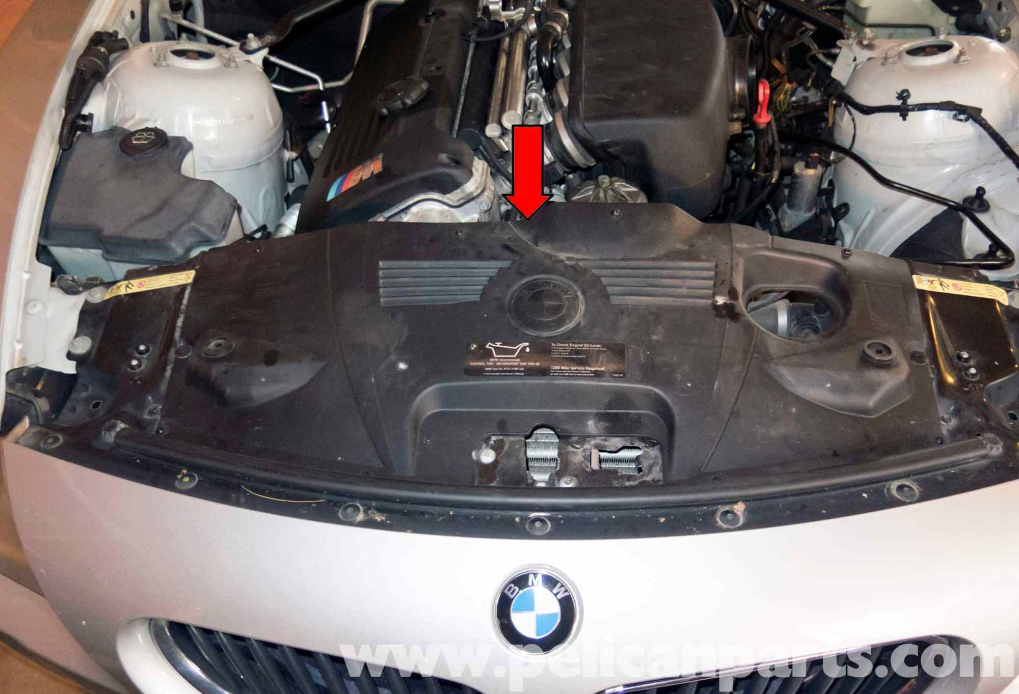 hight resolution of bmw z4 m engine cooling fan replacement 2003 2006  pelican parts mustang wiring