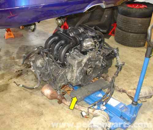 small resolution of porsche boxster engine drop removal 986 987 1997 08 rh pelicanparts com porsche boxster engine location
