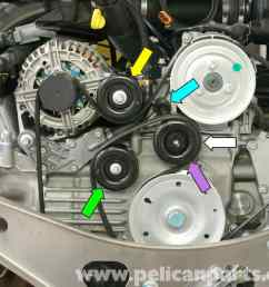 2005 hyundai tucson engine diagram porsche boxster idler belt pulley replacement 986 987 3 [ 2591 x 2090 Pixel ]
