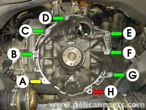 Porsche Boxster Transmission Removal  986  987 (199708