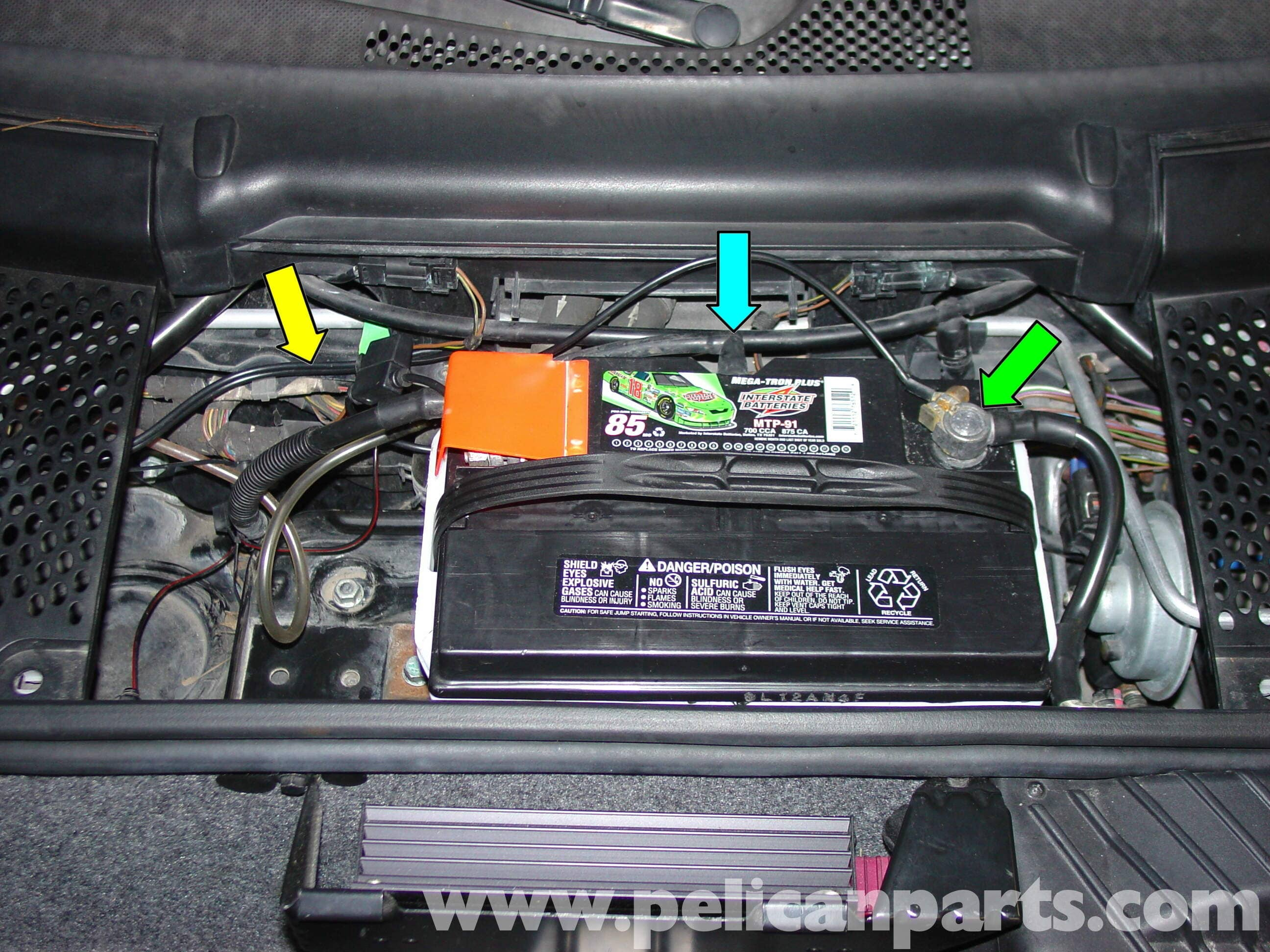 car alarm installation wiring diagram basic hot rod porsche boxster battery disconnect switch / buddy - 986 987 (1997-08 ...