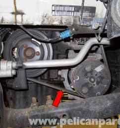 mini cooper r56 drive belt replacement 2007 2011 pelican parts rh pelicanparts com 2007 mini cooper [ 2592 x 1767 Pixel ]