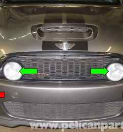 mini cooper r56 fog light replacement 2007 2011 pelican parts wiring front fog lights problems questions and technical the mini [ 2592 x 1767 Pixel ]