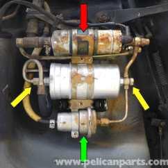 Mercedes Benz W124 230e Wiring Diagram Electric Water Heater Element Mercedes-benz 190e Fuel Filter Replacement | W201 1987-1993 Pelican Parts Diy Maintenance Article