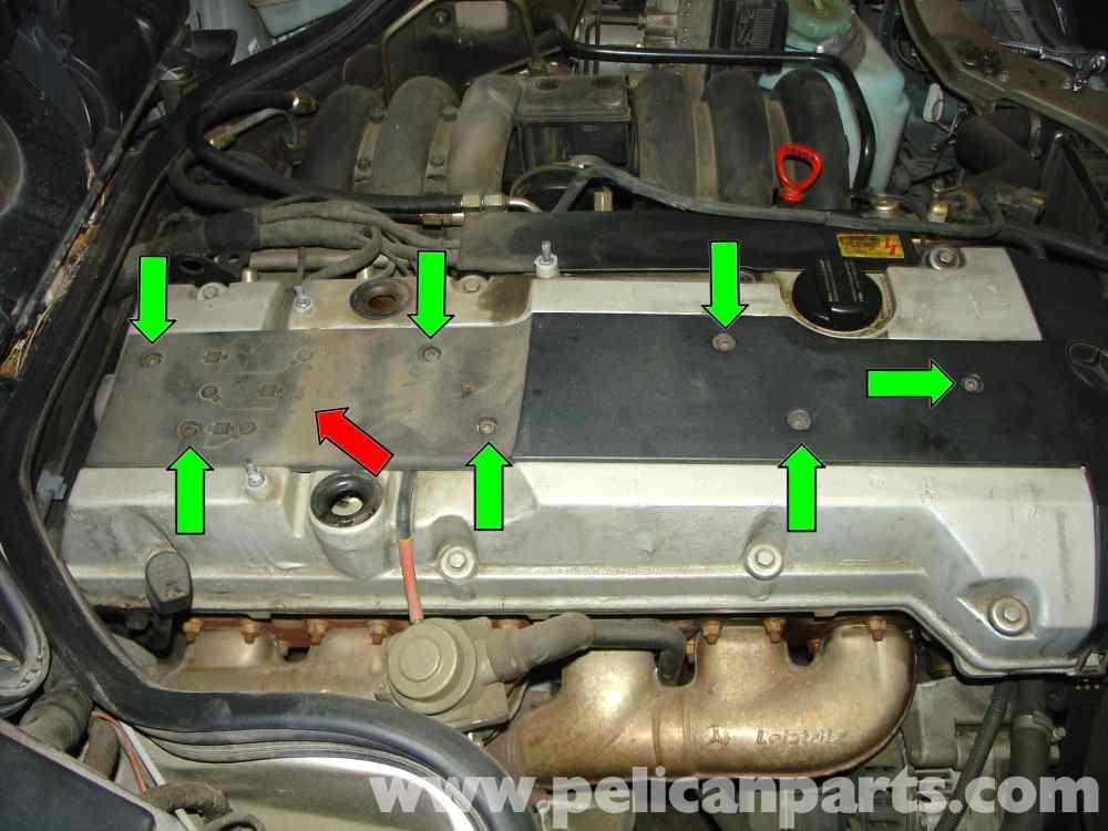 medium resolution of mercedes benz w210 spark plug replacement 1996 03 e320 e420 rh pelicanparts com 2006 mercedes c230 engine diagram mercedes c230 kompressor engine diagram