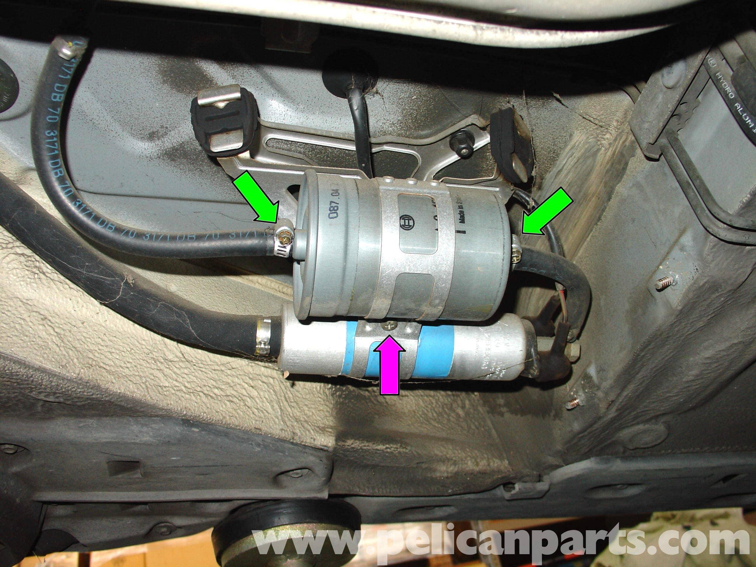 1999 dodge ram fuel filter location