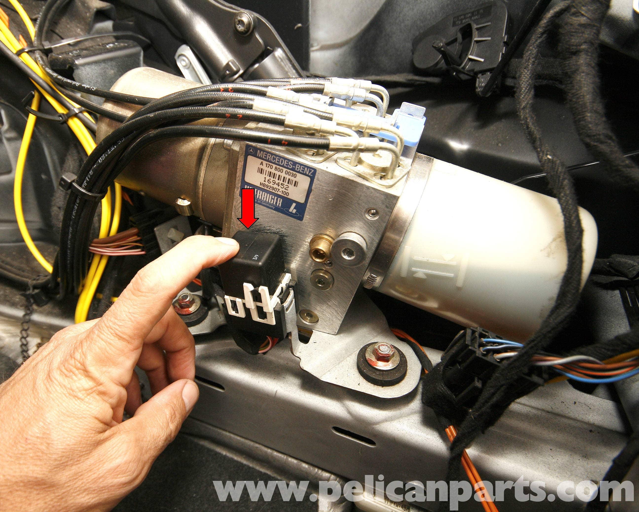Ac Blower Motor Wiring Diagram Sd Picture Mercedes Benz Slk 230 Vario Top Hydraulic Pump Service