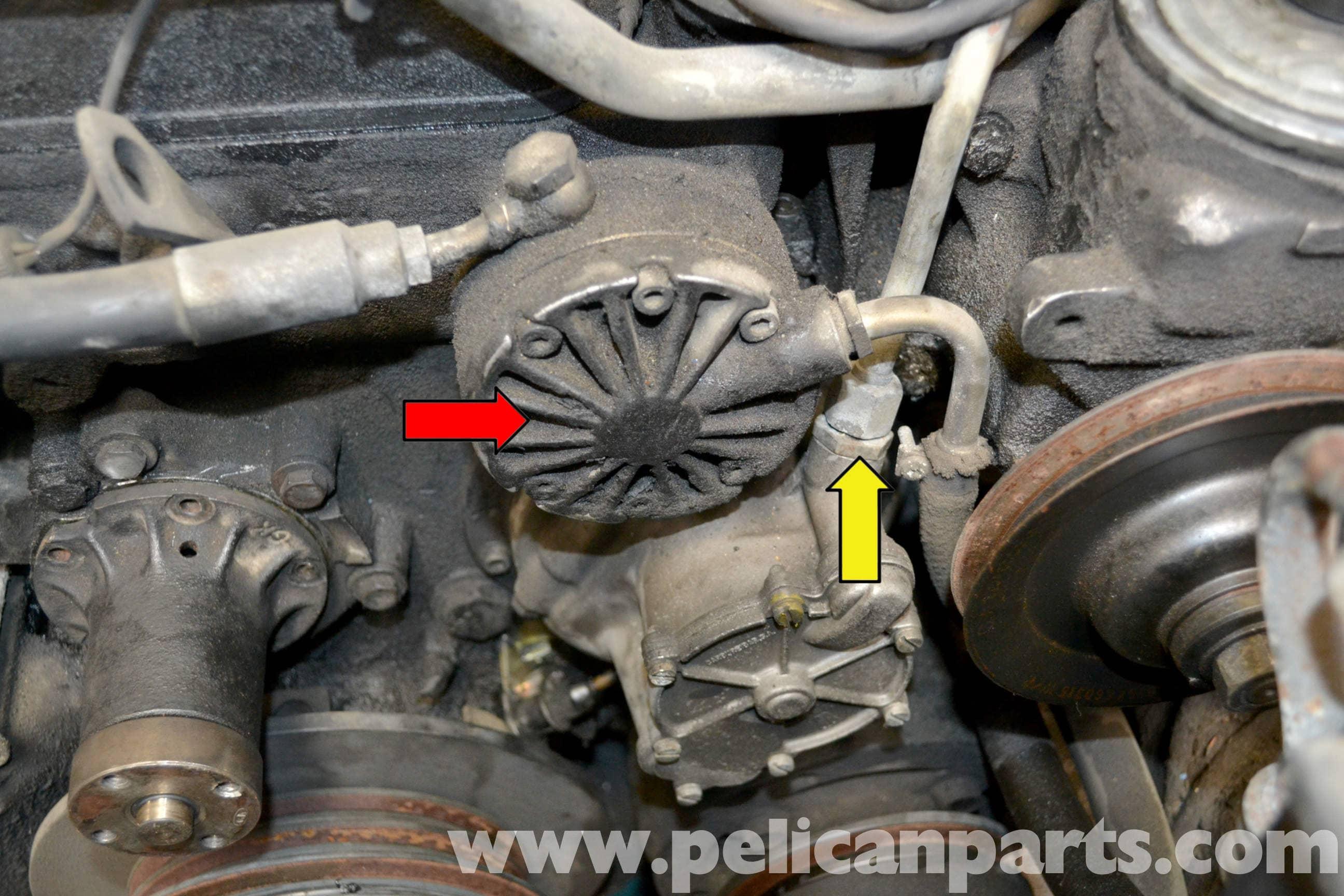 mini cooper suspension diagram rv battery bank wiring mercedes-benz w123 vacuum pump replacement | 300td 1977-1985 pelican parts diy maintenance article