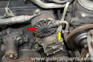 MercedesBenz W123 Vacuum Pump Replacement | 300TD 1977