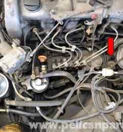 mercedes benz w123 ignition pump shut off valve replacement 300td rh pelicanparts com mercedes 380sl vacuum diagram mercedes 300d vacuum diagram [ 2591 x 1728 Pixel ]
