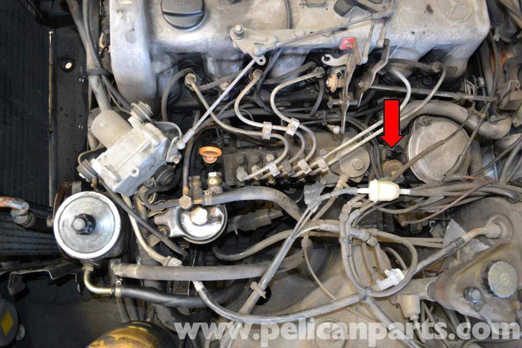 hight resolution of mercedes benz w123 ignition pump shut off valve replacement 300td rh pelicanparts com mercedes 380sl vacuum diagram mercedes 300d vacuum diagram