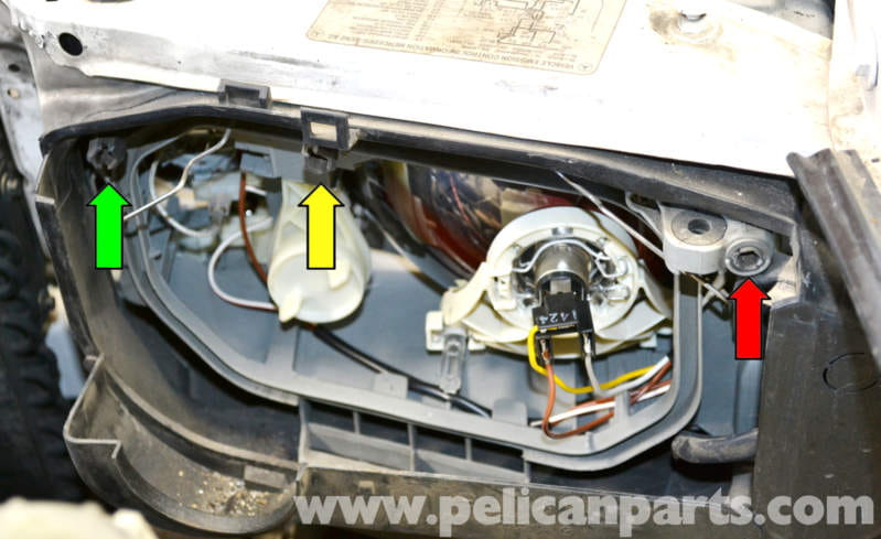 2008 E350 Wiring Diagram Mercedes Benz W124 Headlight Assembly And Bulb Replacement