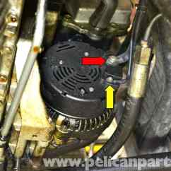 Elec Fan Wiring Diagram 2002 Chrysler Sebring Mercedes-benz W124 Alternator Replacement | 1986-1995 E-class Pelican Parts Diy Maintenance ...