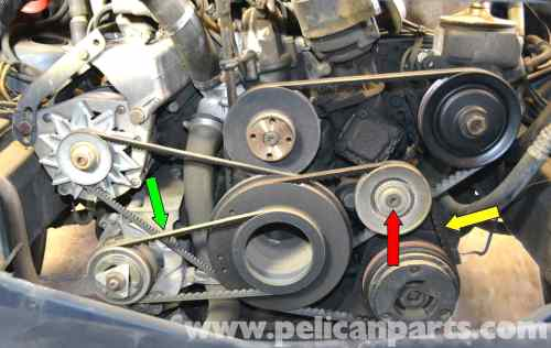 small resolution of mercedes benz w126 a c belt replacement 1981 1991 s class rh pelicanparts com gm 3400 engine