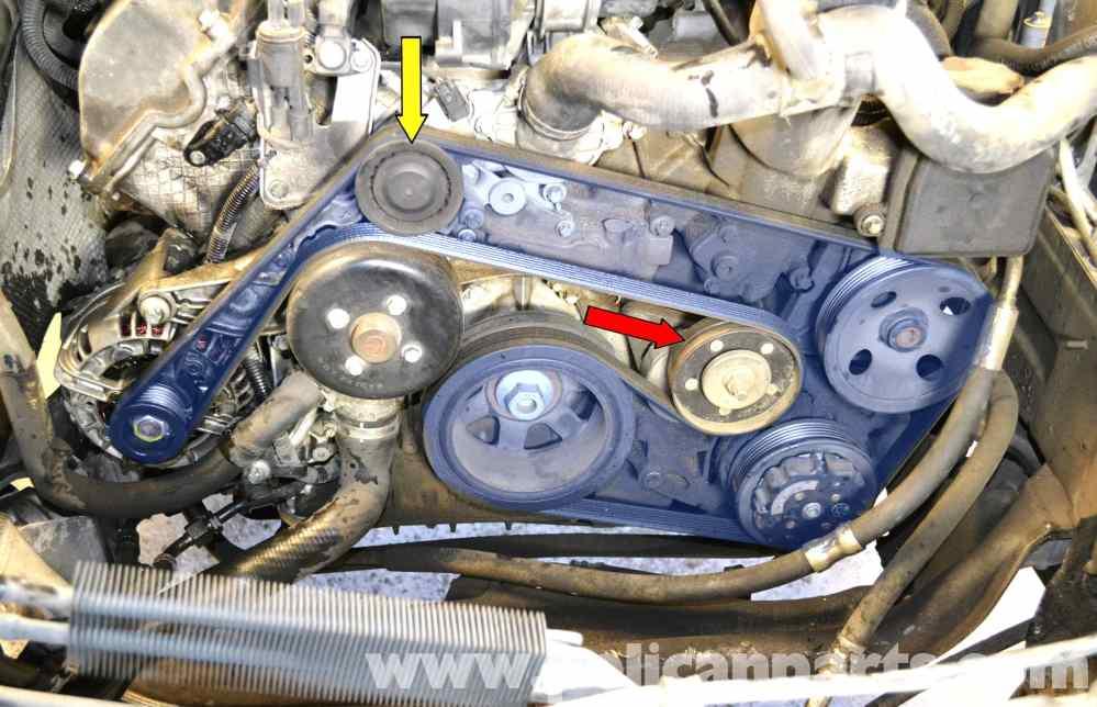 medium resolution of mercedes benz w203 idler pulley replacement 2001 2007 c230 c280 need a belt diagram of a 2003 c230 kompressor