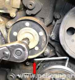 mercedes benz w203 belt tensioner replacement 2001 2007 1997 mercedes e320 problems 1996 mercedes e320 engine [ 2592 x 1728 Pixel ]