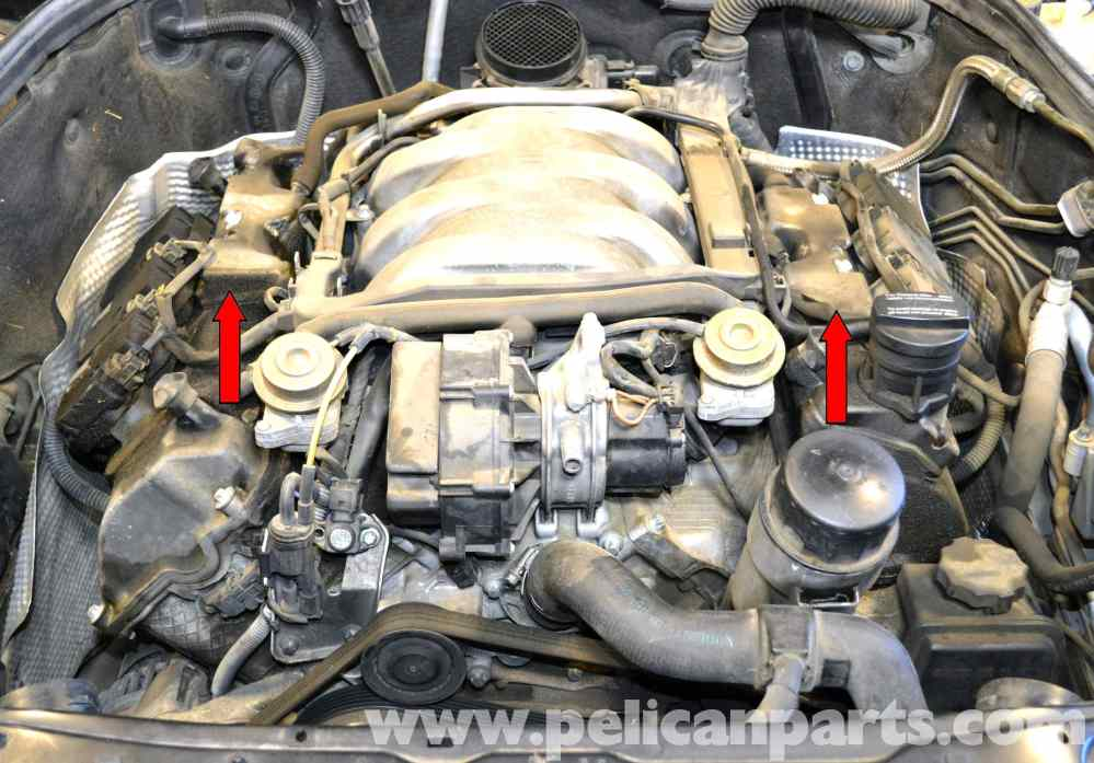 medium resolution of mercedes benz w203 valve cover breather gaskets replacement 2001 rh pelicanparts com 2014 mercedes benz