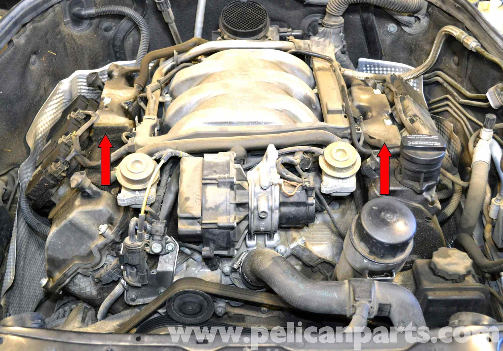 hight resolution of mercedes benz w203 valve cover breather gaskets replacement 2001 rh pelicanparts com 2014 mercedes benz