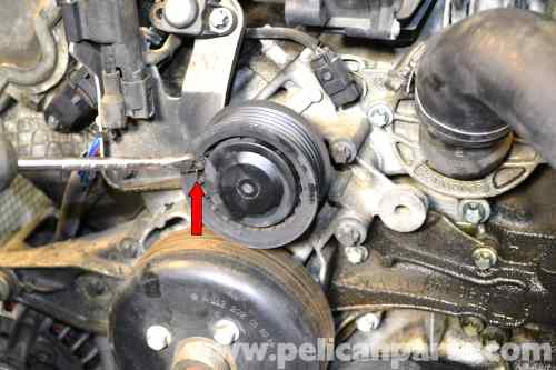 small resolution of mercedes benz w203 water pump replacement 2001 2007 c230 c280 rh pelicanparts com 1993 saturn sl2