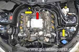 MercedesBenz W204 MAF Sensor Replacement  (20082014) C250, C300, C350   Pelican Parts DIY