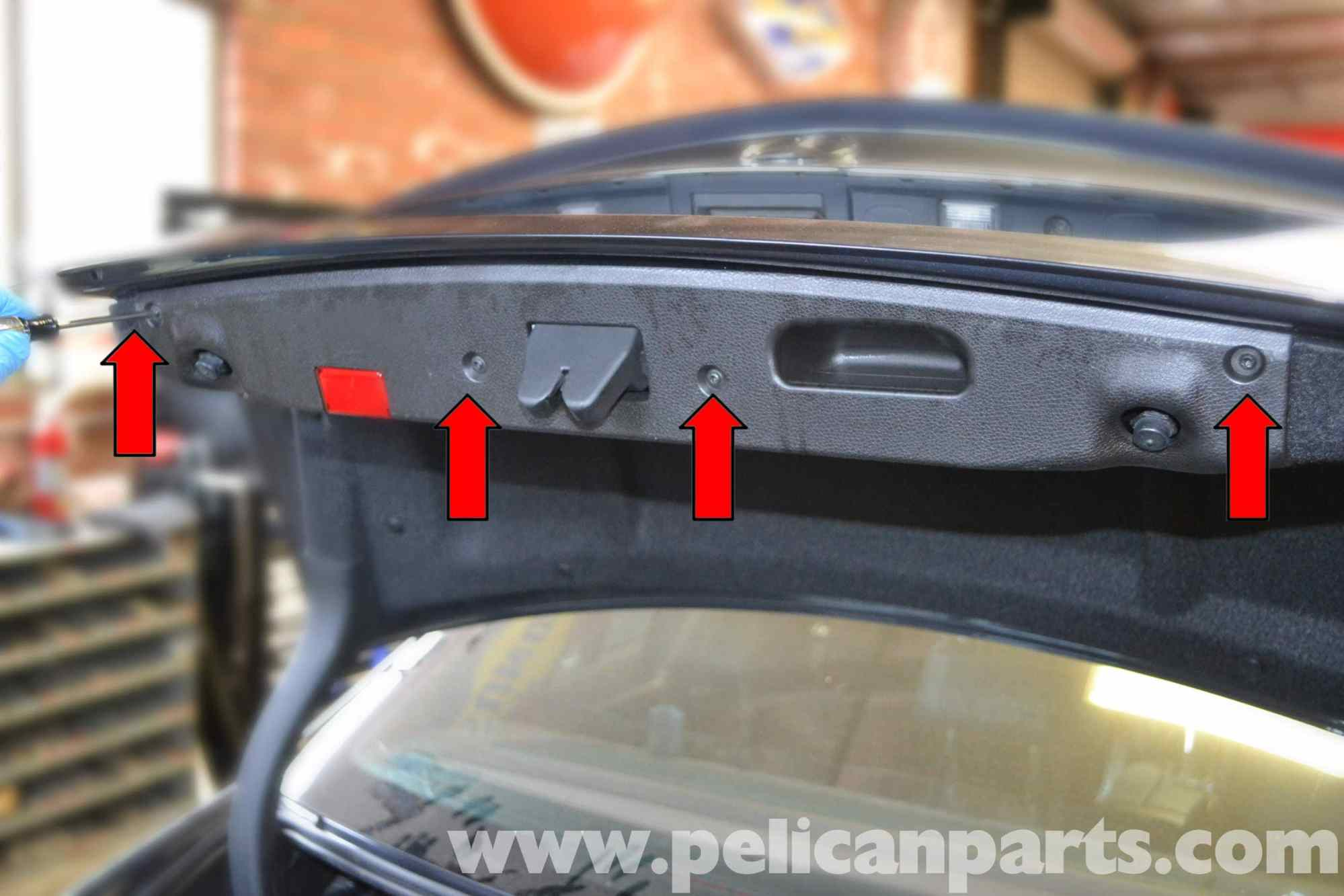 hight resolution of trunk interior panel and trim removal