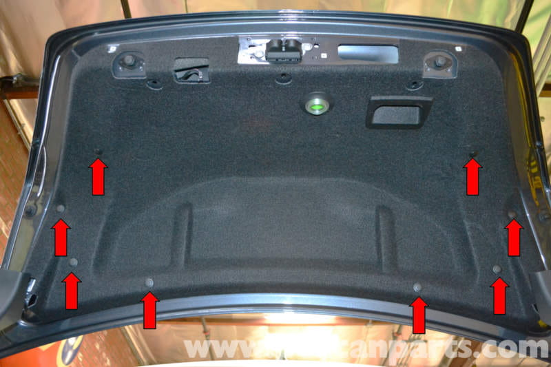 2013 Passat Interior Fuse Box Mercedes Benz W204 Trunk Interior Panel And Trim Removal