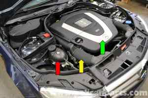 MercedesBenz W204 Coolant Expansion Tank Replacement