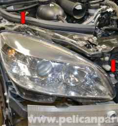 mercedes benz w204 headlight bulb and assembly replacement 2008 large image w204 headlight wiring diagram  [ 2592 x 1728 Pixel ]