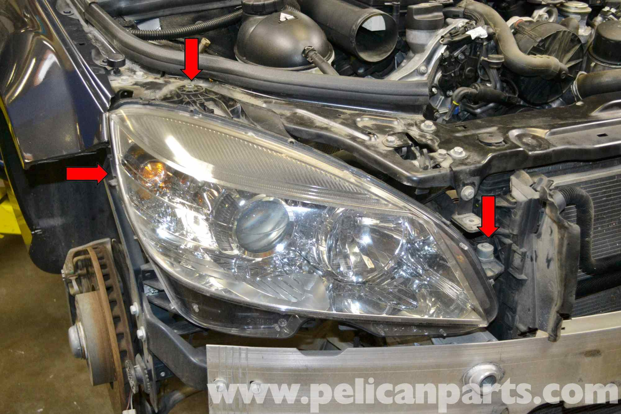 hight resolution of mercedes benz w204 headlight bulb and assembly replacement 2008 large image w204 headlight wiring diagram