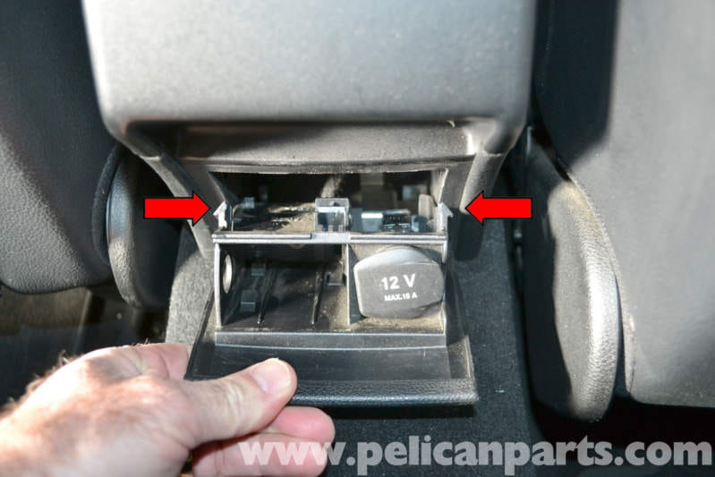 For Mercedes R350 Fuse Box Mercedes Benz W204 Rear Console Vent Ashtray Removal And