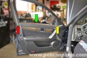 MercedesBenz W204 Front Door Panel Removal  (20082014) C250, C300, C350 | Pelican Parts DIY