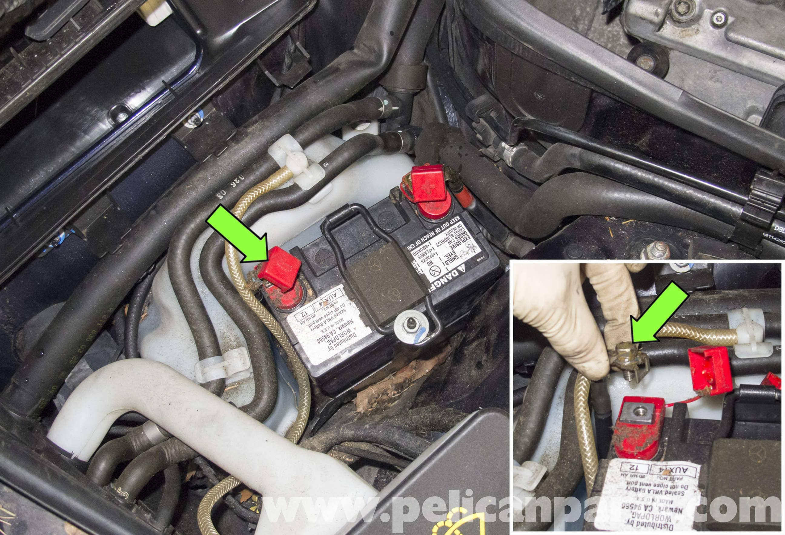 Fuse Box Mercedes Benz W211 Auxiliary Battery Replacement 2003
