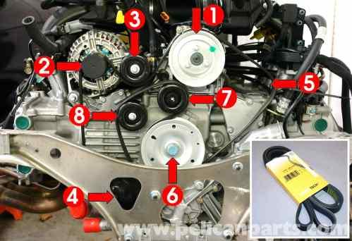 small resolution of porsche 911 carrera belt replacement 996 1998 2005 2002 nissan 3 5 engine diagram nissan altima 3 5