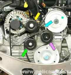 porsche 911 carrera belt tensioner replacement 996 1998 2005 audi tt timing belt diagram porsche 911 timing belt diagram [ 2591 x 2090 Pixel ]