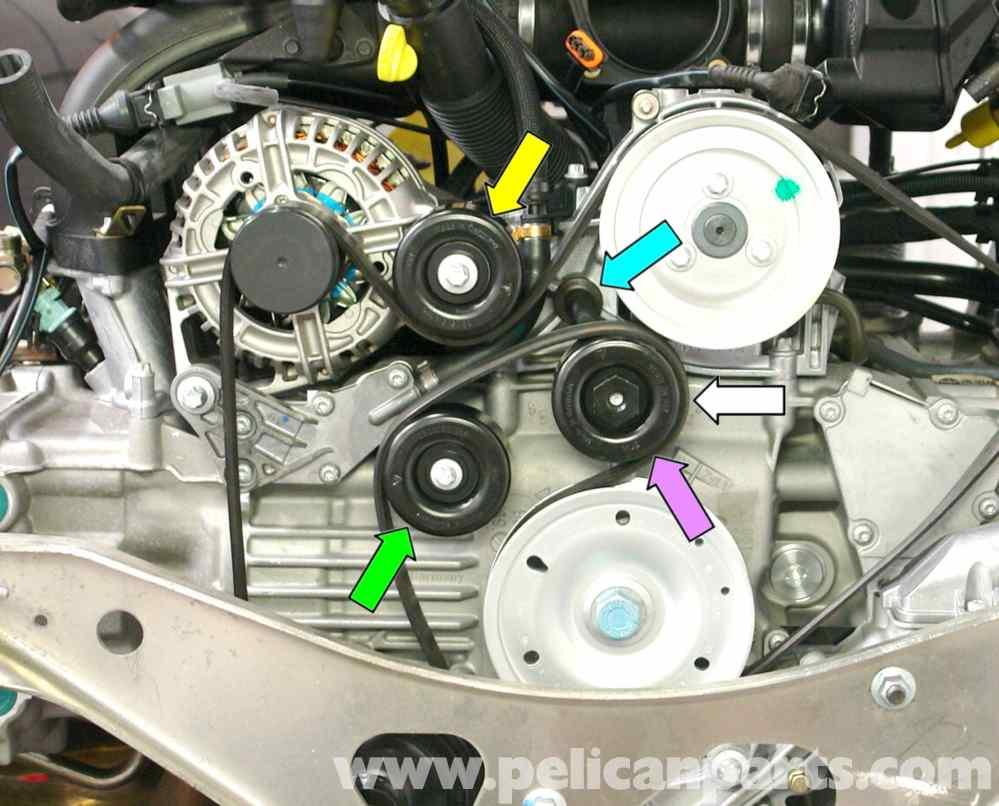 medium resolution of porsche 911 carrera belt tensioner replacement 996 1998 2005 audi tt timing belt diagram porsche 911 timing belt diagram
