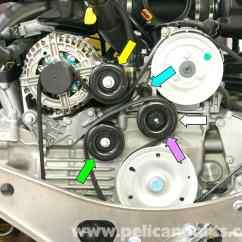 Porsche 911 Engine Diagram Of Parts Keyboard Wiring Carrera Belt Tensioner Replacement 996 1998