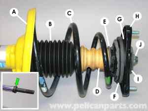 Porsche 911 Carrera Shocks and Springs Replacement  996 (19982005)  997 (20052012)  Pelican