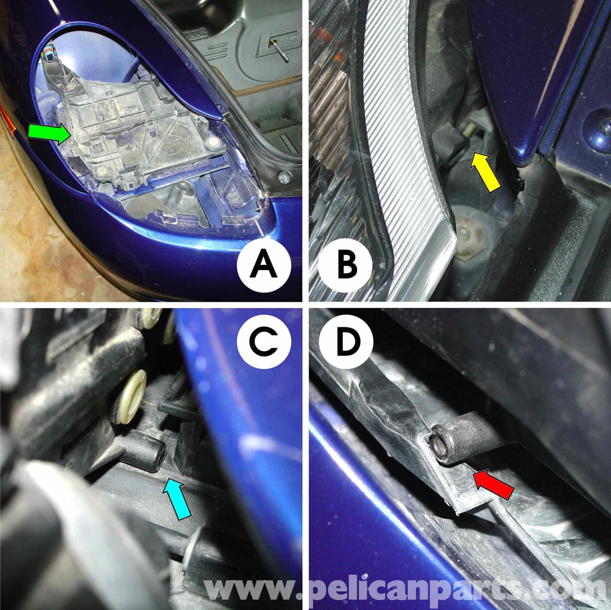 hight resolution of porsche 911 carrera lenses and bulb replacement 996 1998 2005 rh pelicanparts com headlight socket wiring diagram chevy headlight wiring diagram