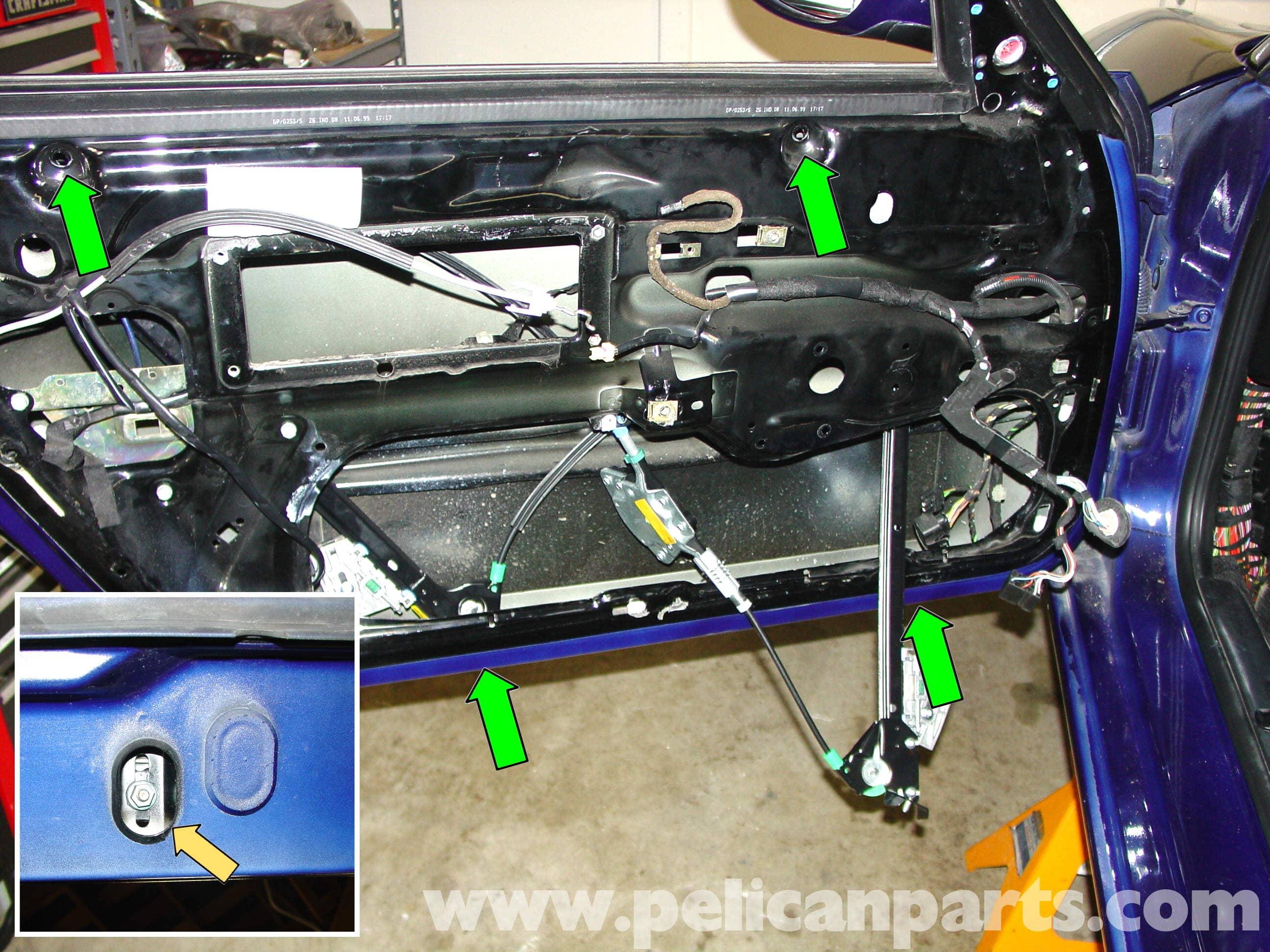push pull switch wiring diagram 05 pontiac g6 stereo porsche 911 carrera window regulator and motor replacement - 996 (1998-2005) 997 (2005-2012 ...