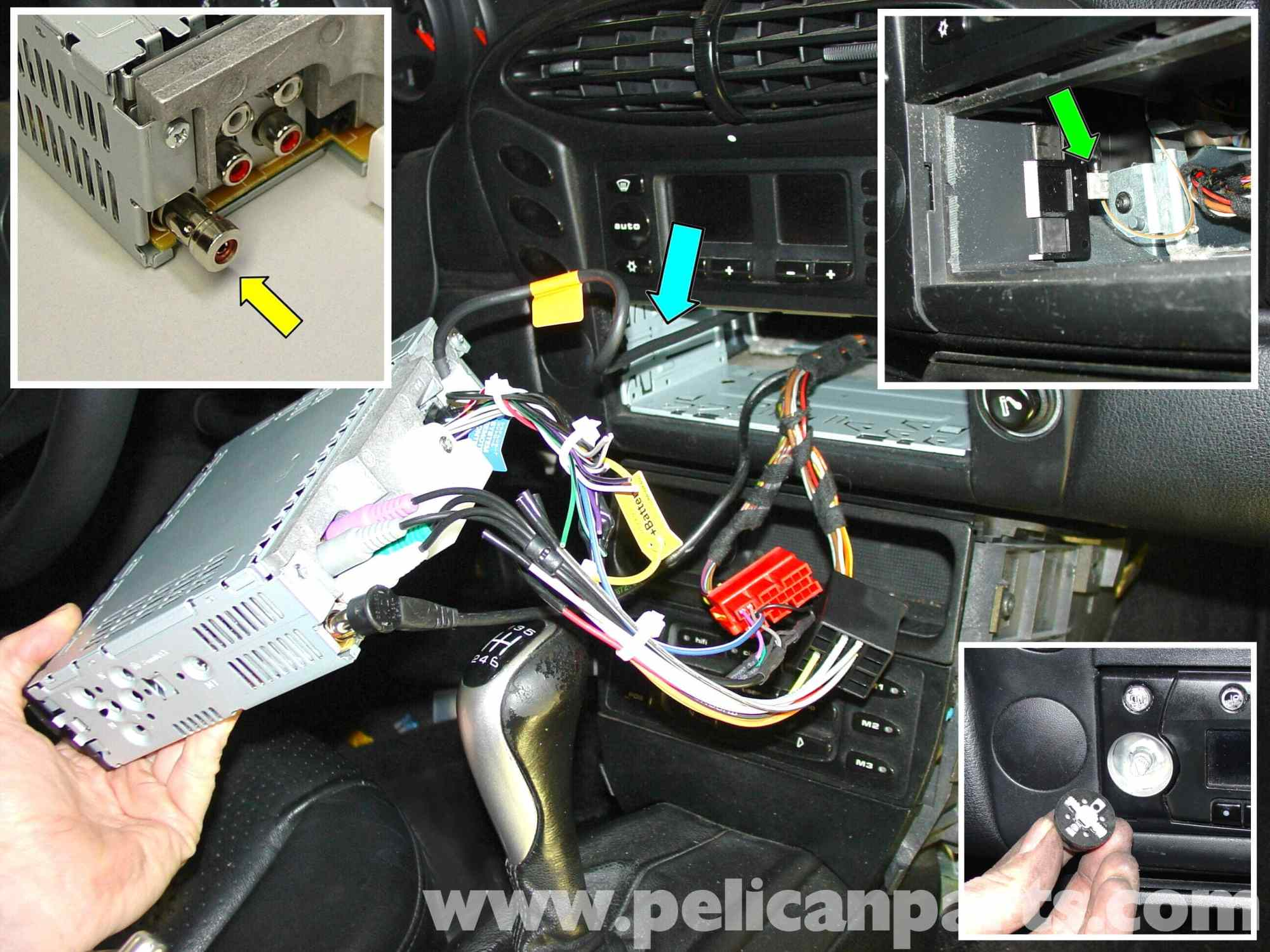 hight resolution of porsche 911 carrera radio head unit installation 996 1998 2005 1975 porsche 911 wiring diagram porsche 911 radio wiring diagram