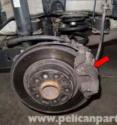 saab 9 3 rear brake pads rotors replacement 2006 2007 pelicanlarge image extra large [ 2592 x 1767 Pixel ]
