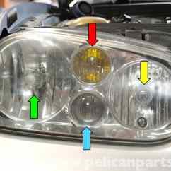 Mk4 Gti Headlight Wiring Diagram Rv Converter Volkswagen Golf Mk Iv Bulb And Assembly