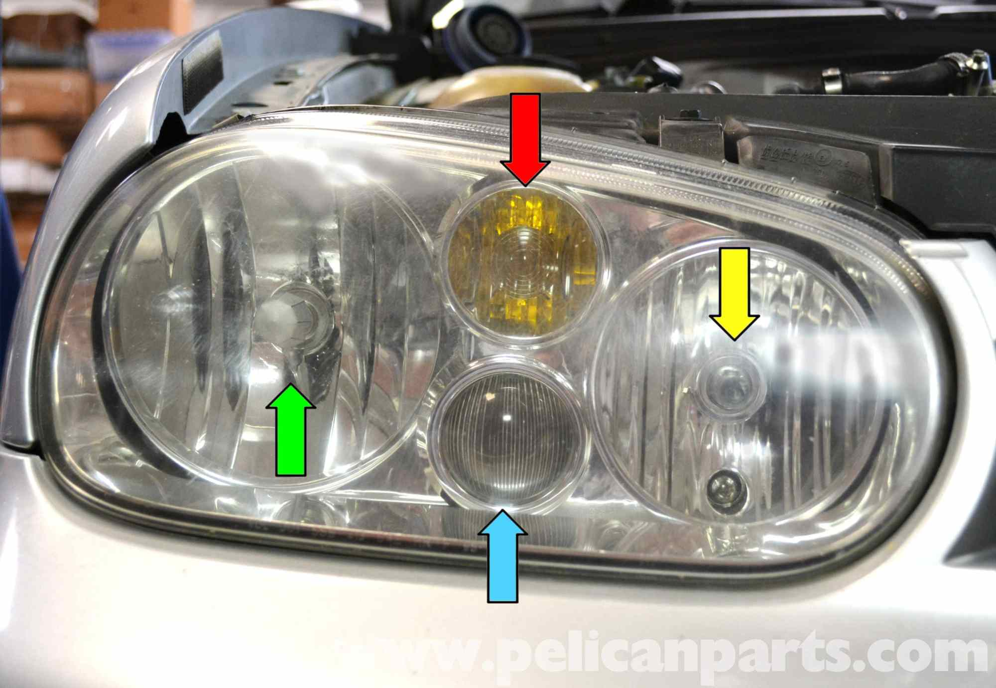 hight resolution of volkswagen golf gti mk iv headlight bulb and assembly replacement vw golf mk4 headlight wiring diagram
