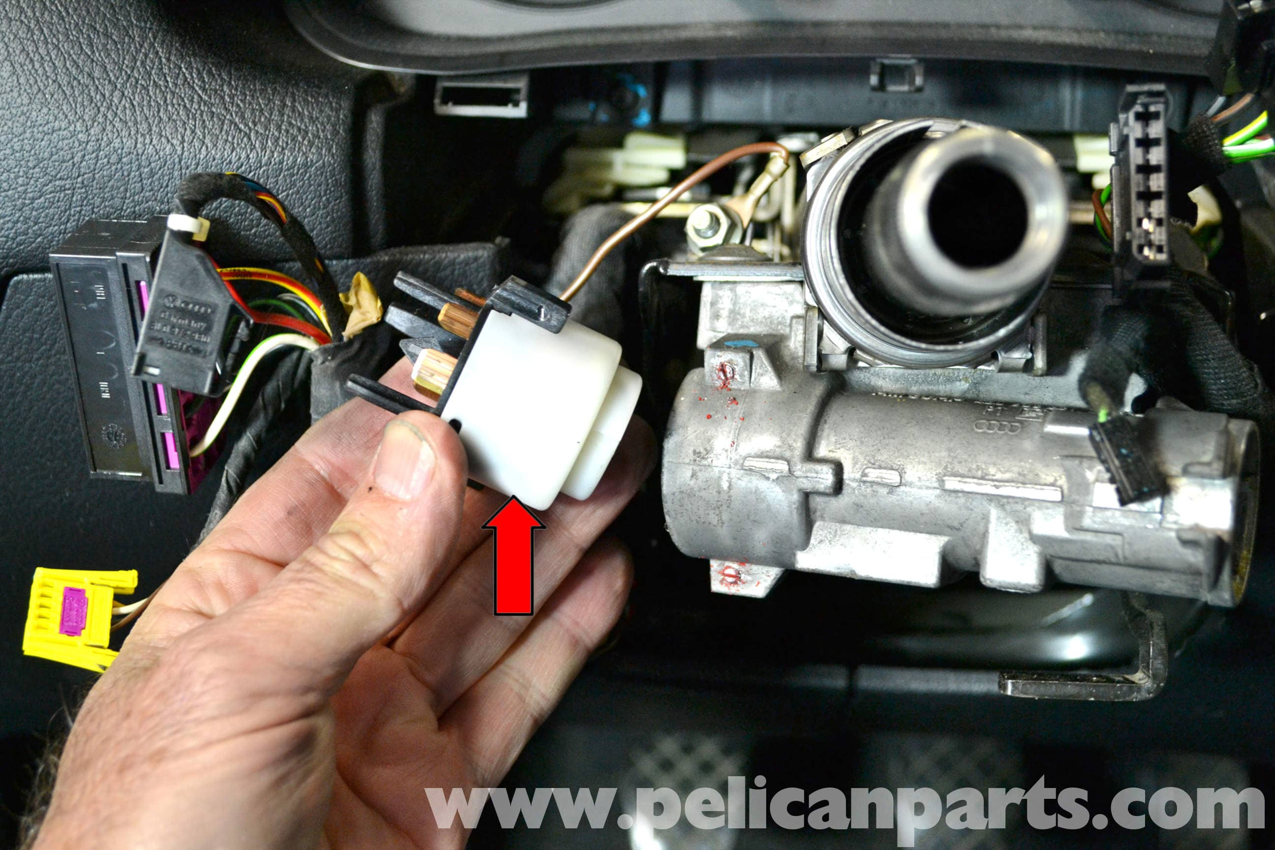 vw polo 9n central locking wiring diagram 1999 ford f150 engine volkswagen golf gti mk iv ignition switch and lock cylinder large image extra