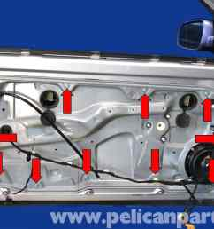 volkswagen golf gti mk iv window regulator replacement 1999 2005 pelican parts diy 1995 vw jetta engine diagram 2000 vw jetta wiring diagram [ 2591 x 1727 Pixel ]