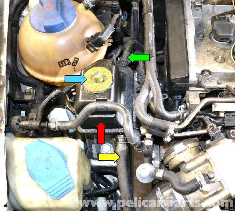 2000 vw passat vacuum hose diagram 6 pole trailer plug wiring volkswagen golf gti mk iv power steering pump and reservoir replacement (1999-2005) - pelican ...
