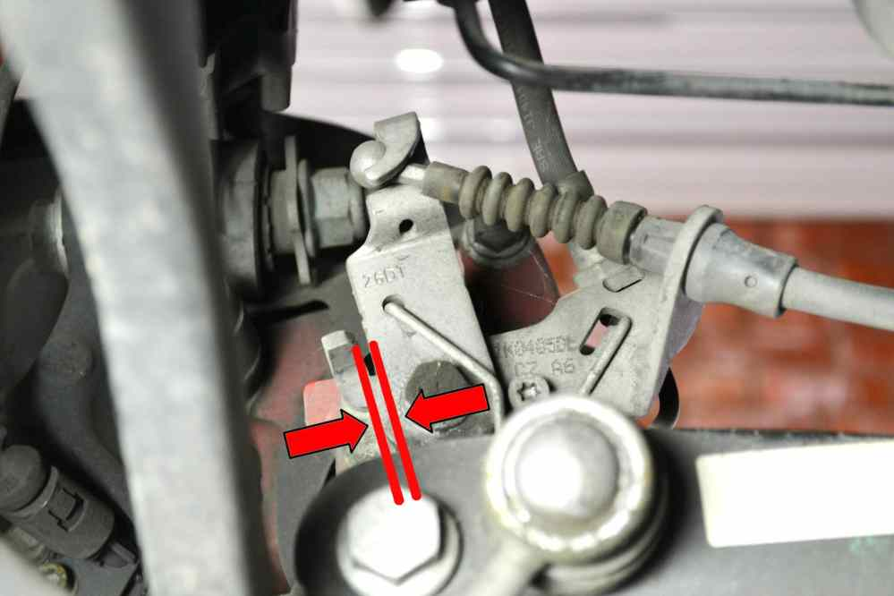 medium resolution of cable adjustment use a 10mm wrench and adjust the compensator until the lever on the